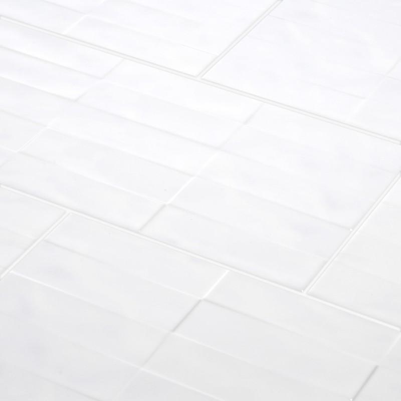 Tile facing light gray relief bricks