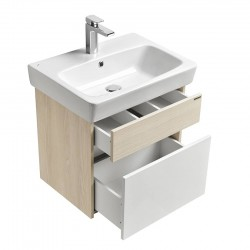 Sink cabinet 600 mm white / ash