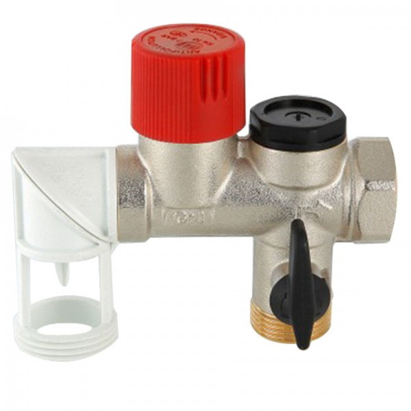 Valtec 1/2 boiler safety group with siphon