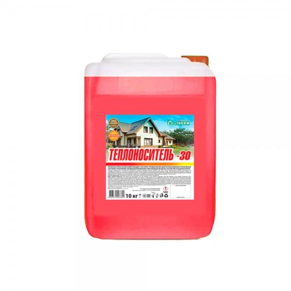 Heat carrier EcoTherm -30 ° С based on ethylene glycol 10 kg